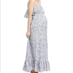 Motherhood Maternity Ruffle Prairie Maxi Dress